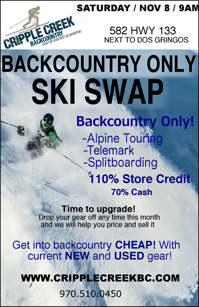 Backcountry Only Ski Swap 2014