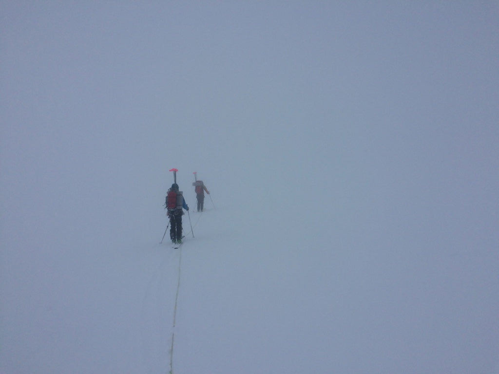 Retreating from advanced basecamp in whiteout