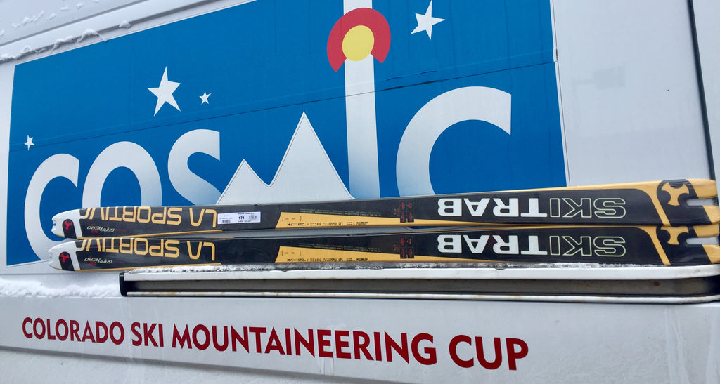 CAIC fundraising skis
