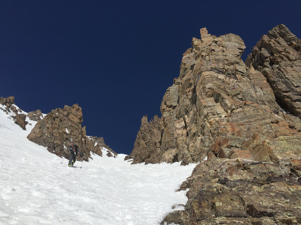 booting the pearl couloir