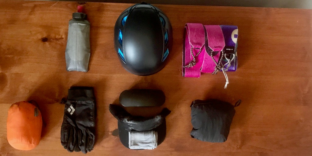 ski touring packing list resort uphill skiing gear