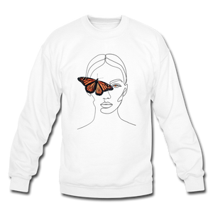 Butterfly Crewneck - white