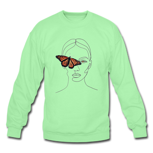 Butterfly Crewneck - lime