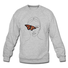 Load image into Gallery viewer, Butterfly Crewneck - heather gray