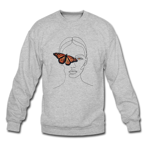 Butterfly Crewneck - heather gray