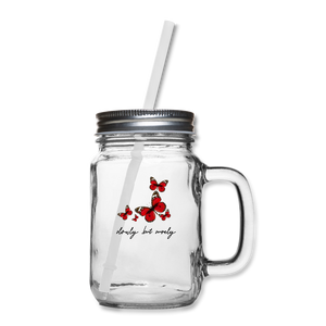 Butterfly Mason Jar - clear