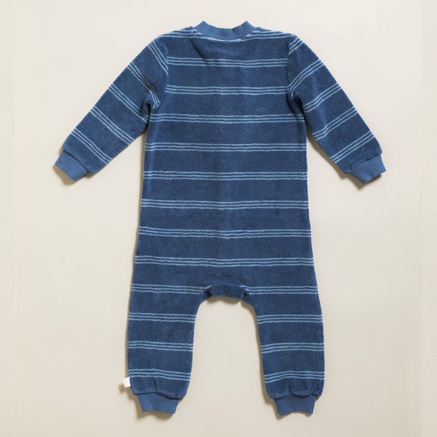 Onepiece Terry Stripes Gray Blue