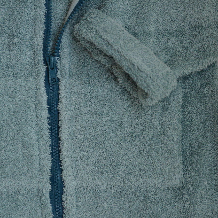 bathrobe for kids made from organic cotton, detail pocket, Bademantel für Kinder aus Biobaumwolle, Detail Tasche