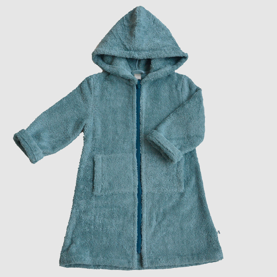 bathrobe for kids made from organic cotton, front, Bademantel für Kinder aus Biobaumwolle, Vorderansicht