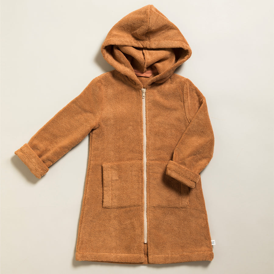Little Bathrobe - Kinderbademantel Caramel/Cream
