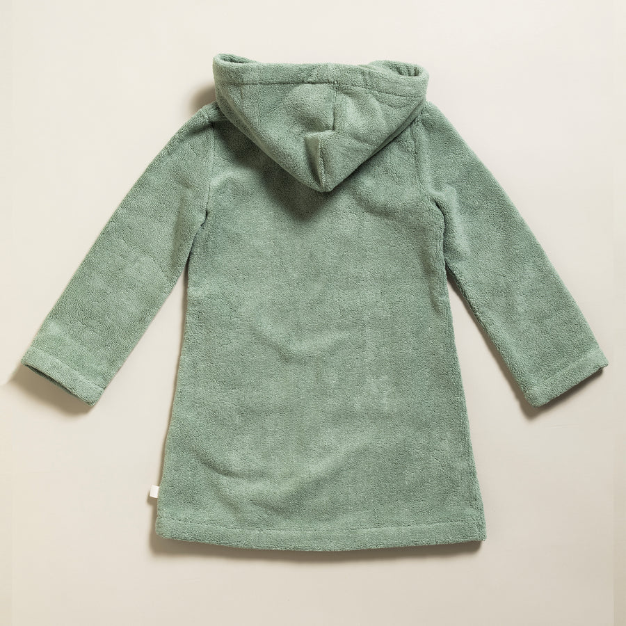 Little Bathrobe - Kinderbademantel Green Bay/Caramel