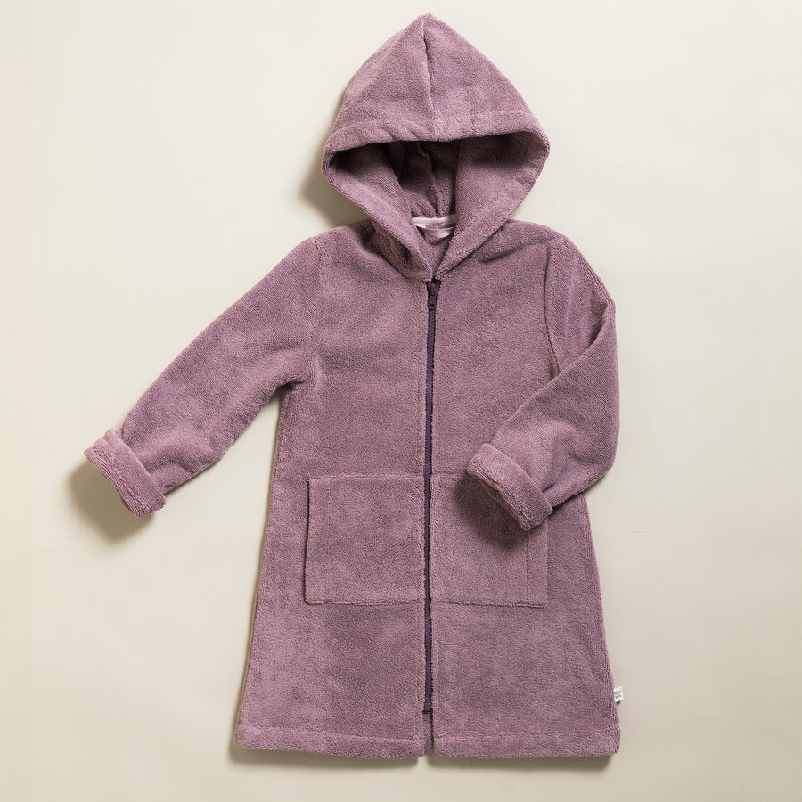 Little Bathrobe - Kinderbademantel Mauve/Aubergine