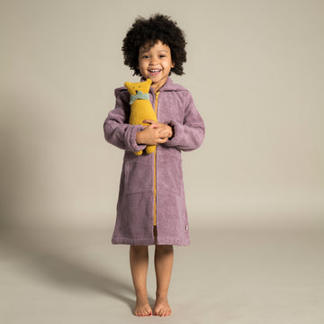 Little Bathrobe - Kinderbademantel Mauve/Ochre
