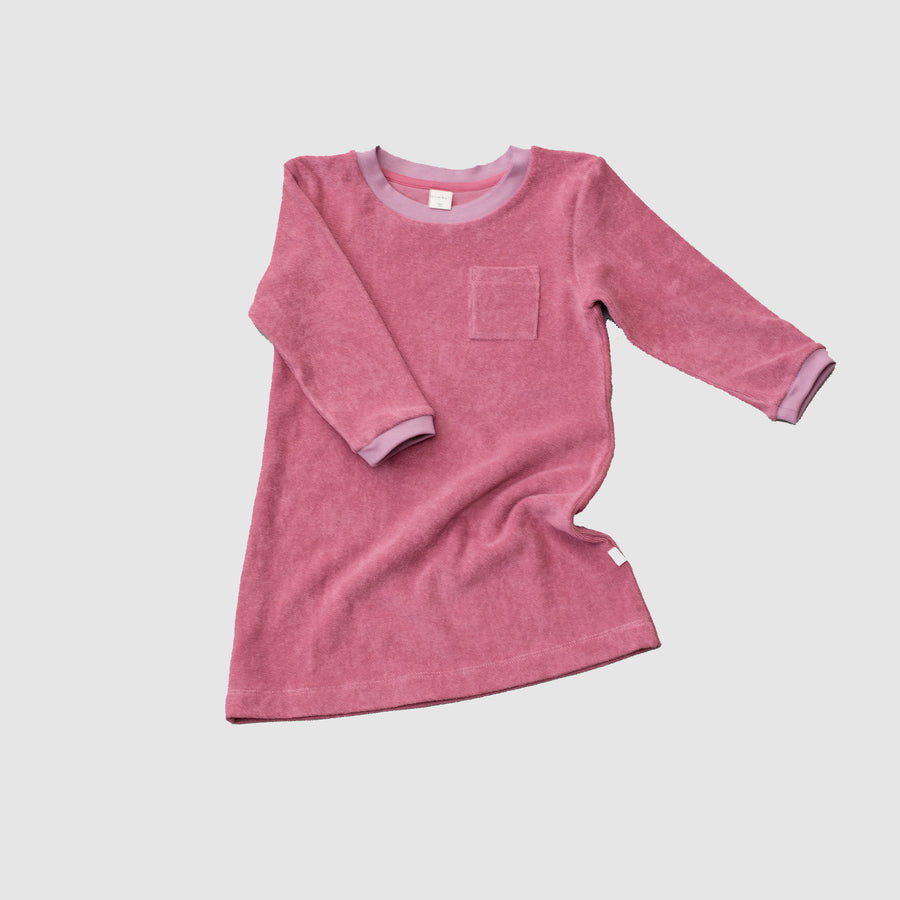 Long Nightdress for Kids, color deco rose