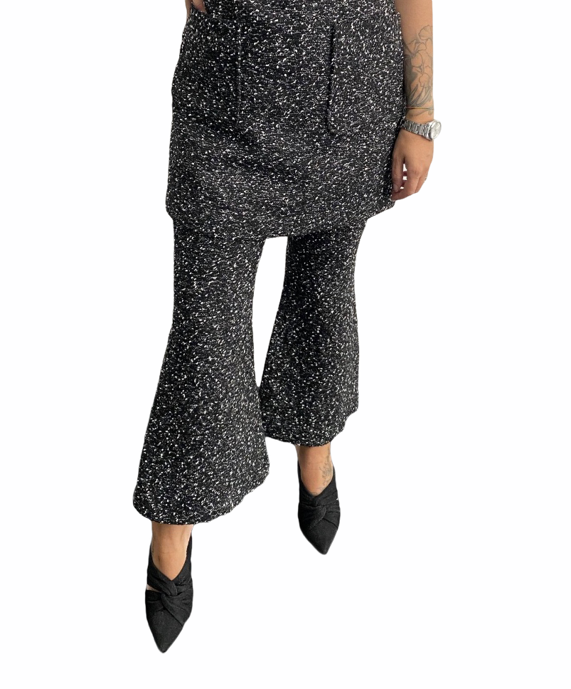 Pantalone Flared Tweed