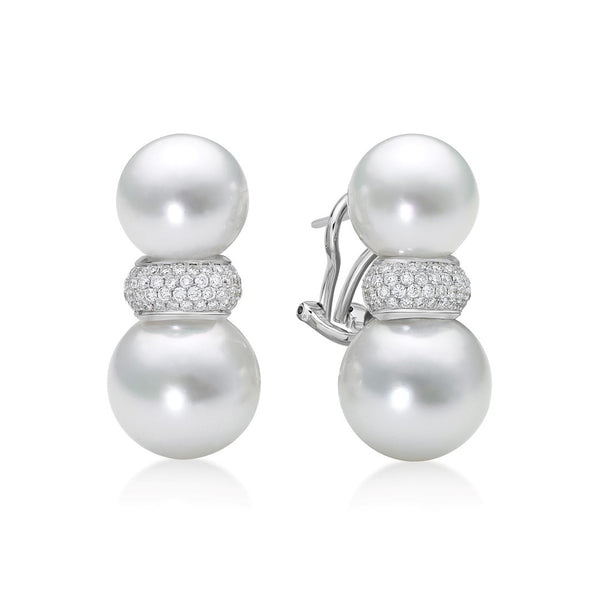 Avenue Doubles Earring - South Sea Pearl Earrings