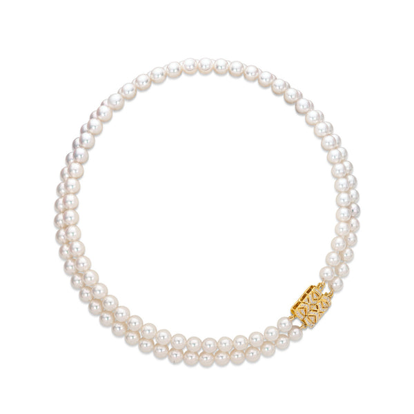 Double Akoya Strand - Akoya Pearl Necklace