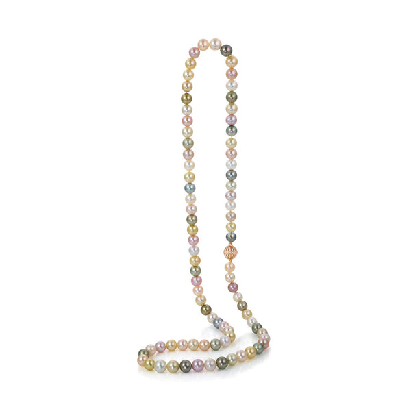 Melange Opera - multi colored pearl necklace