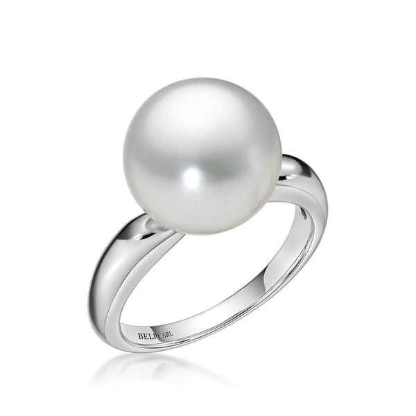 White Slim Ring - South Sea Pearl Ring