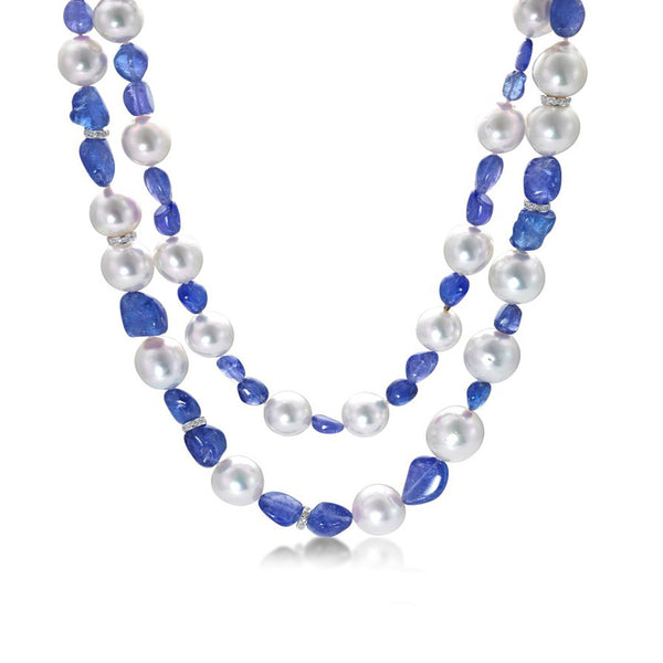 Resort Grand Blue- Baroque pearl necklace