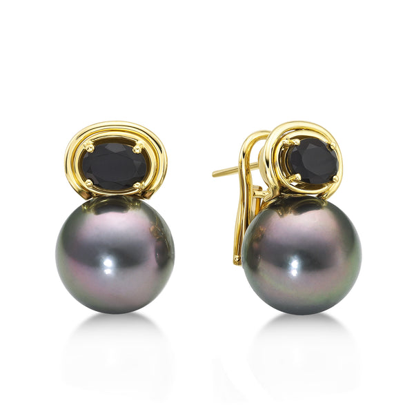 Aura Earring Black - Black Pearl Earrings