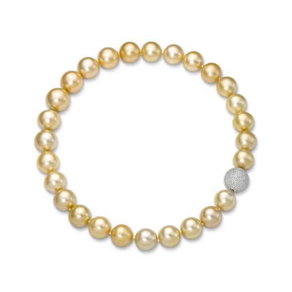 Golden South Sea Strand- South Sea Pearl Necklace