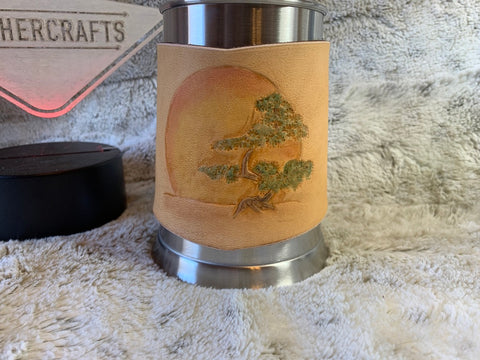 Rising Sun leather wrapped Beer stein - Leatherneck Leathercrafts