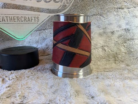 Everybody Wants One Beer Mug w/Leather Wrap - Leatherneck Leathercrafts