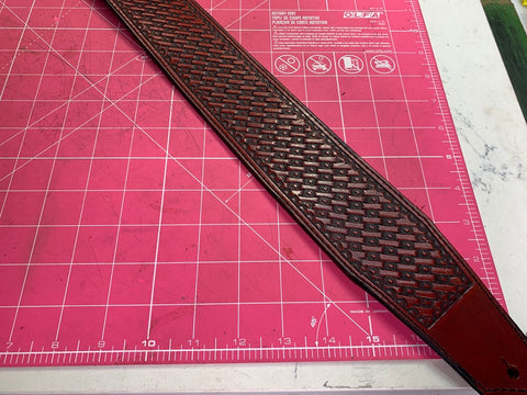 Deep in the Heart of Texas Weave Guitar Strap - Leatherneck Leathercrafts