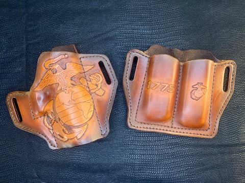 USMC Holster/Mag Carrier Combo for JS - Leatherneck Leathercrafts