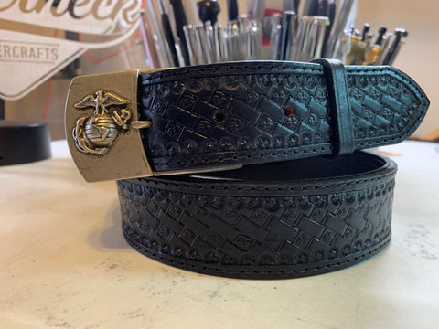 Custom USMC Belt w/Buckle for DF - Leatherneck Leathercrafts
