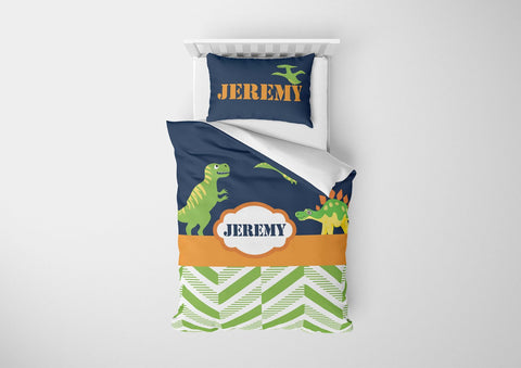 personalize dinosaur boys bedding set for twin xl comforter cover bed