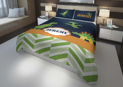 personalize dinosaur boys bedding set for king comforter cover bed