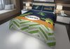 Image of personalize dinosaur boys bedding set for king comforter cover bed