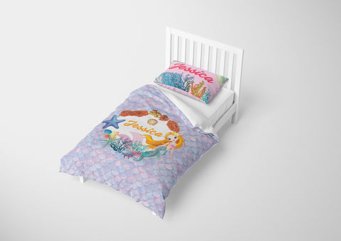 Mermaid Circle of Life #10 - Toddler, Twin, Twin XL, Full, Queen - Comforter & Duvet