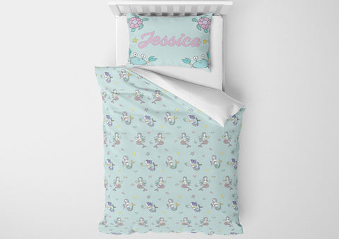 Mermaid Pattern #5 - Toddler, Twin, Twin XL, Full, Queen - Comforter & Duvet