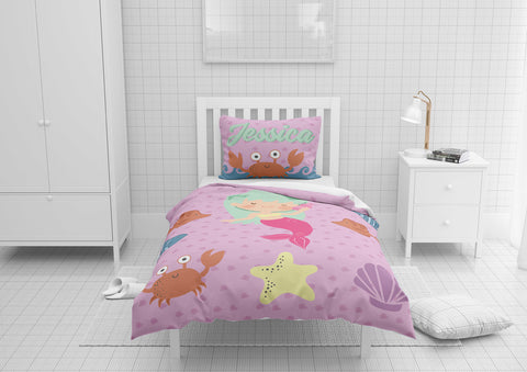 Purple Mermaid #6 - Toddler, Twin, Twin XL, Full, Queen - Comforter & Duvet
