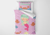 Image of Purple Mermaid #6 - Toddler, Twin, Twin XL, Full, Queen - Comforter & Duvet