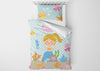 Image of Happy Mermaid #7 - Toddler, Twin, Twin XL, Full, Queen - Comforter & Duvet
