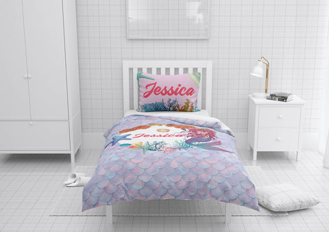 Mermaid Circle of Life #9 - Toddler, Twin, Twin XL, Full, Queen - Comforter & Duvet