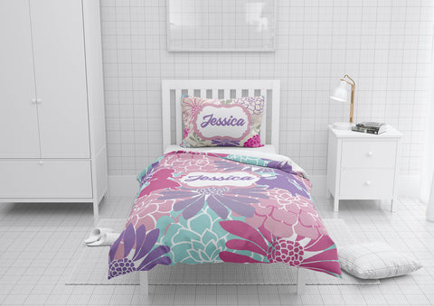 Floral Princess #3 Girls Comforter & Duvet Bedding Set-Twin,Twin XL,Full,Toddler,Queen