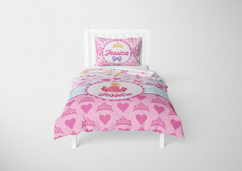 Hearts & Jewelry Princess #9 Girls Comforter & Duvet Bedding Set-Twin,Twin XL,Full,Toddler,Queen