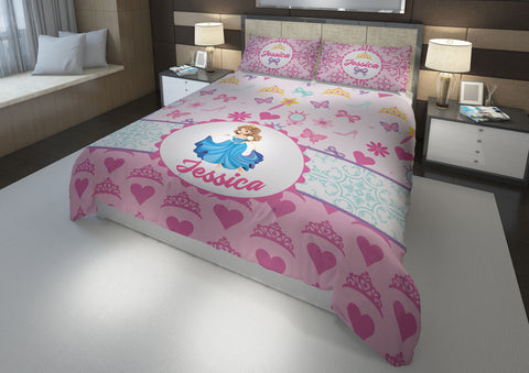 Hearts & Jewelry Princess #9a (v2) Girls Comforter & Duvet Bedding Set-Twin,Twin XL,Full,Toddler,Queen