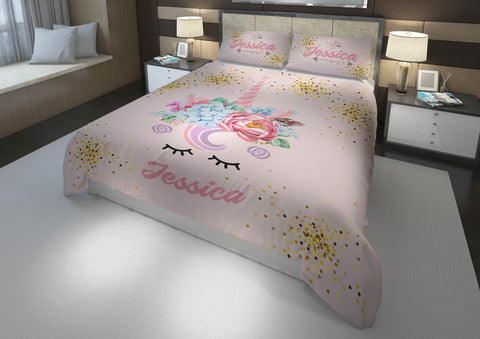 Unicorn Eyes #1 Girls Comforter & Duvet Bedding Set-Twin,Twin XL,Full,Toddler,Queen