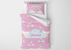 Image of Flying with Unicorns #2 Girls Comforter & Duvet Bedding Set-Twin,Twin XL,Full,Toddler,Queen