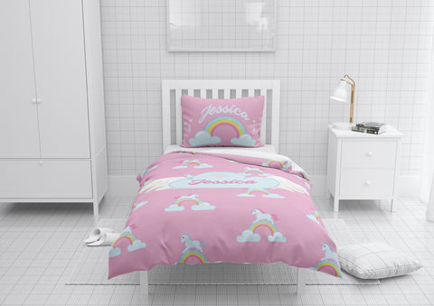 Flying with Unicorns #2 Girls Comforter & Duvet Bedding Set-Twin,Twin XL,Full,Toddler,Queen