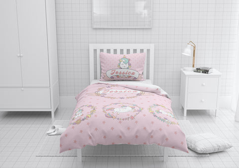 3 Unicorns #3 Girls Comforter & Duvet Bedding Set-Twin,Twin XL,Full,Toddler,Queen