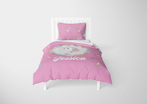 Colorful Unicorn #5 Girls Comforter & Duvet Bedding Set-Twin,Twin XL,Full,Toddler,Queen