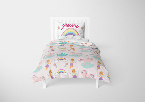 Unicorns & Fairies #7 Girls Comforter & Duvet Bedding Set-Twin,Twin XL,Full,Toddler,Queen