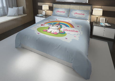 Sparkle Shimmer Baby Unicorn #9 Girls Comforter & Duvet Bedding Set-Twin,Twin XL,Full,Toddler,Queen